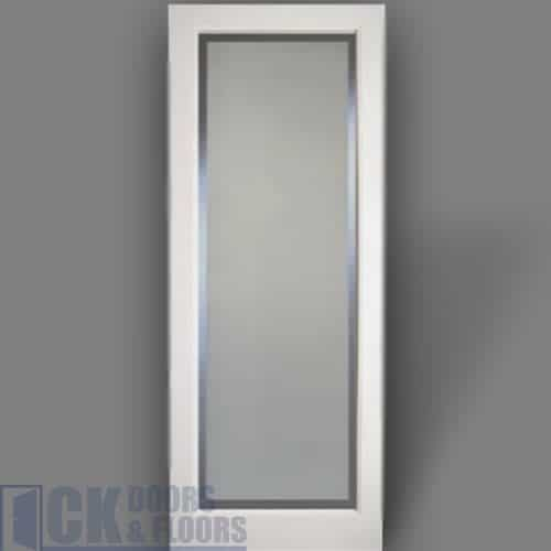 Kenmore Single Panel Narrow Rail Shaker Frosted Glass With A Clear
