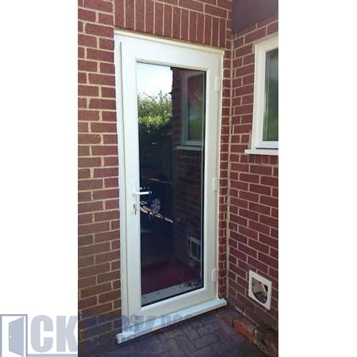 UPVC Back Door Full Length Glass